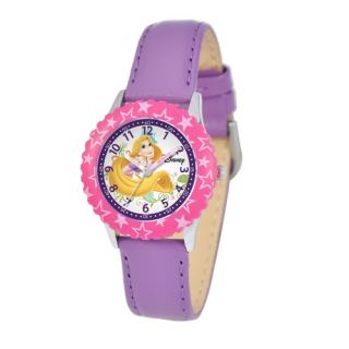 Disney Kids Rapunzel Time Teacher Watch in Purple