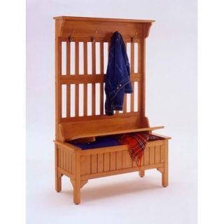 Home Styles Wood Entryway Full Storage Bench   5648 49 / 5649 49