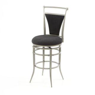 Hillsdale Cierra 30 Swivel Bar Stool   Black Fabric   4592 830