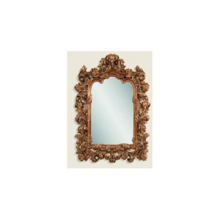 Bassett Mirror Ornate Shaped Mirror in Burnished Antique Gold