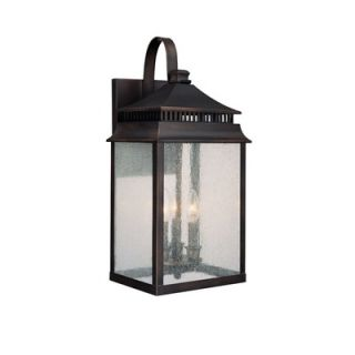 Capital Lighting Sutter Creek Three Light Outdoor Wall Lantern in Old