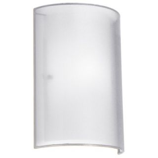 Dainolite Single Light Wall Sconce with White Laminated Organza Outer