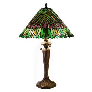 Warehouse of Tiffany Leaves Cone Table Lamp   2508+BB699