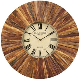 Cooper Classics Chatham Wall Clock in Distressed Natural Rustic