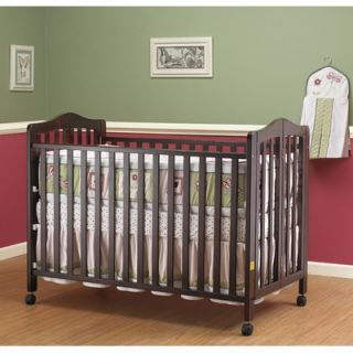 Orbelle Lisa Two Level Full Size Folding Crib in Cherry