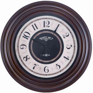 Cooper Classics Pearce Wall Clock in Mahogany