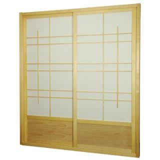 Oriental Furniture Eudes Shoji Double Sliding Sliding Door Kit in