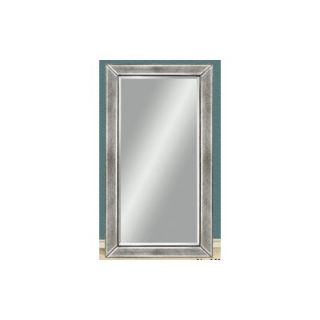 Bassett Mirror Wood Frame Mirror with Beaded Detail in Antique Silver