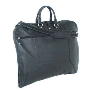 Sondrio Leather Garment Bag in Black