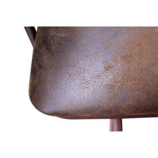 Artisan Home Furniture Swivel Bar Stool with Microfiber Back