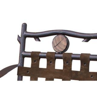 Artisan Home Furniture Swivel Bar Stool with Pig Skin Back