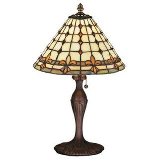Meyda Tiffany Victorian Tiffany Gothic Fleur De Lite Accent Lamp