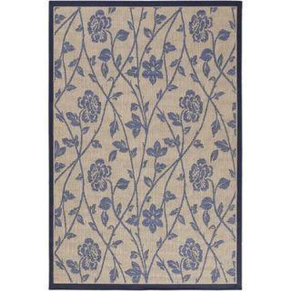 Chandra Rugs Plaza Blue/Beige Floral Rug   PLA10409