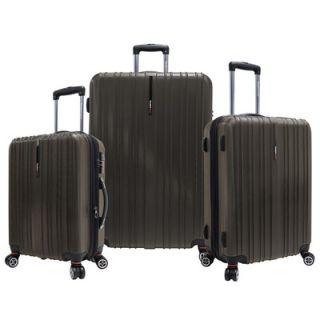 Travelers Choice Tasmania 3 Piece Expandable Spinner Luggage Set