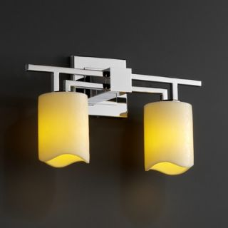 Justice Design Group CandleAria Aero Two Light Bath Vanity   CNDL