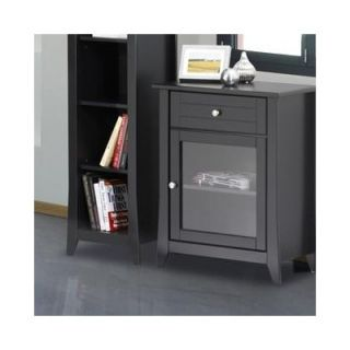 AA Importing Three Drawer Two Side Door Console Cabinet in Distressed