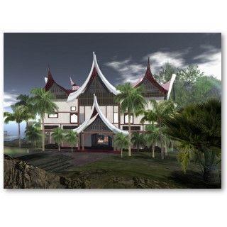 Minangkabau House 2011 Calendar Business Card