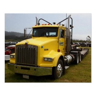 Yellow Kenworth Big Rig Truck 7d15118 Poster