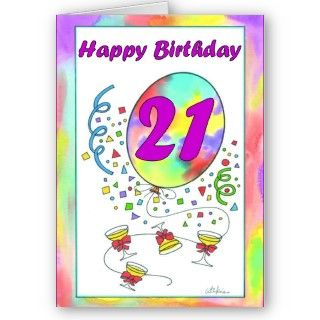 21st birthday card with a number 21. Design by justbyjulie.