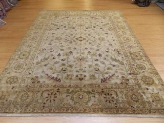 Green Hand Knotted Wool Indo Persian Classic Oriental Rug New