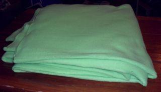 Sea Foam Green Fleece Throw Blanket
