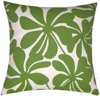 18 Sq Sunny Green Twist Indoor Outdoor Decorative Throw Pillow Cover