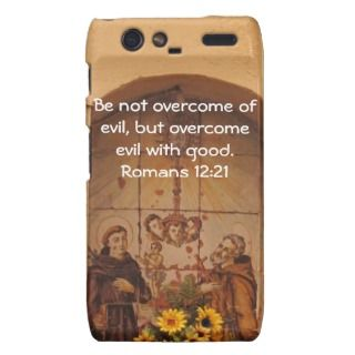 Bible Verses Love Quote Saying Romans 12:21 Motorola Droid RAZR Covers