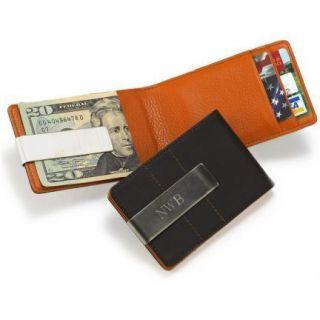 Metro Leather Wallet Money Clip Groomsmen Gift