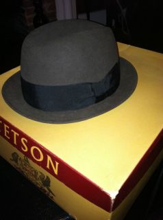 Vintage Stetson Beaver Fur Gros Grain Ribbon Hat