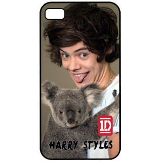 HARRY STYLES with KOALA BEAR ONE DIRECTION 1D Apple iPhone 4 4s Hard