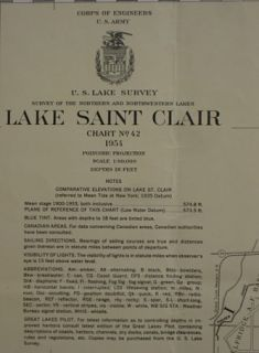 Army Survey Map LAKE SAINT CLAIR Grosse Pointe Mount Clemons Michigan