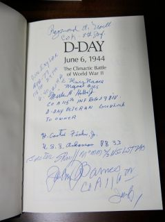 Easton Press D Day Book Signed by Various WWII  veteran Heros