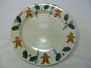 Hartstone Pottery Dinner Plate Gingerbread Holly