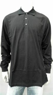 Greg Norman Signaure Classic Mens Cotton Long Sleeve Polo Shirt Sz L