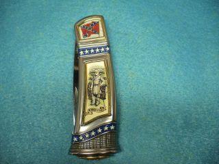 Vintage Franklin Mint Civil War Collectors Knife General Robert E Lee