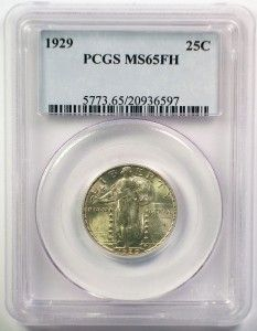 1929 Standing Liberty Quarter Silver Coin PCGS MS 65 Full Head WOW