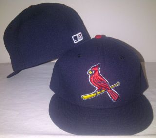 NEW ERA 59Fifty St Louis Cardinals 7 5/8 Cap Hat Navy Blu MLB On Field