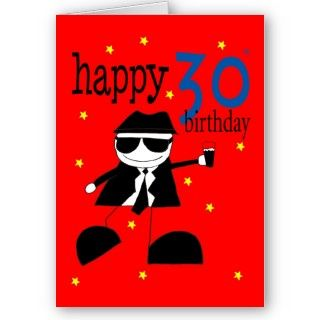 aged 30 happy birthday male blues brothers greeting cards