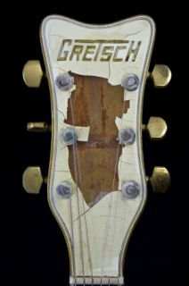 Vintage 1976 Gretsch 7593 White Falcon Archtop Electric Guitar