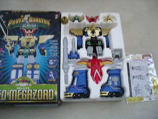 Power Rangers zeo megazord plus rare rhino green helmet & horns
