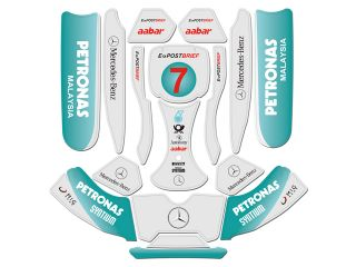 2011 RB7 McLaren F1 Sticker Decal Tony Kart Birel CRG