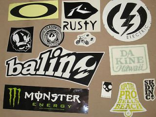 Surf Stickers Pack surfing stickers RipCurl Oakley Electric Dragon