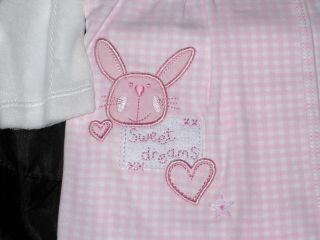 BNWT Darling Baby Girls Designer Pink Bunny Outfit Size Newborn