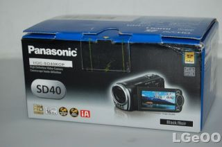 panasonic hdc sd40 camcorder black full hd 1080p product condition