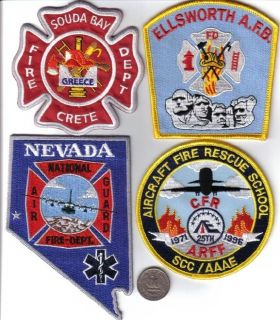 US Air Force Squadron Patch Military Fire Rescue School