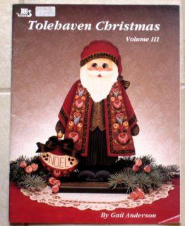 Tolehaven Christmas Volume III 3 Gail Anderson Santa Tole Painting