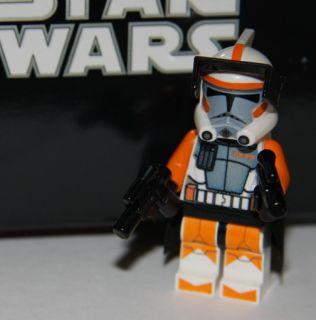 LEGO STAR WARS CUSTOM ORANGE ARC COMMANDER CODY TROOPER MINIFIG MINI