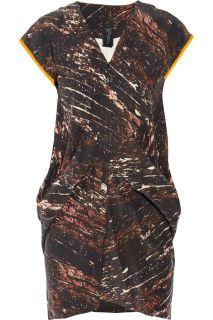 Zero+MariaCornejo Toia printed silk mini dress   60% Off