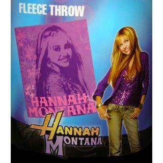 Hannah Montana Miley Cyrus Fleece Blanket Throw New