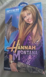 Hannah Montana Pop Star Wig Full Length New in Box